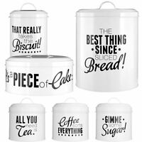Pun & Games Tea Coffee Sugar Storage Jar Cake Tin Biscuit Cansiter Bread Bin
