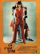 G- Publicité Advertising 1969 Pret à porter vetements pantalons SYM