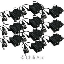 10 Pair BNC UTP Video Security Camera Balun Transceive CCTV Coax CAT5 To Camera