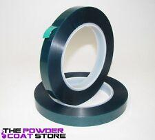 1/2 Inch x 72 yd - High Temp Masking Tape for Powder Coating