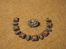 ♣♥☼ sehr altes Armband mit Brosche --> Mille Fiori - Schmuck