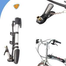 mini gonfietto pompa per bicicletta in alluminio + adattatore + siringa palloni