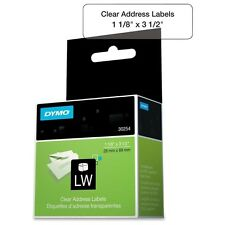 Dymo Labelwriter 30254 Clear Address Label Roll Of 130 Labels