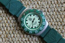 NEW Tag Heuer 372.513 Formula 1 F1 Watch Womens Mens Midsize Green Cream Plastic
