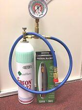 R22 R-22 Refrigerant 22, Recharge Kit, LARGE 35 oz. Can, Taper, Hose & Gauge