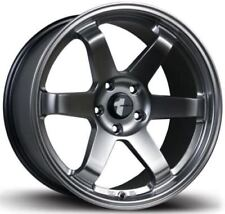 Avid1 AV06 18x9.5 +24 5x114.3 Hyper Black EVO STI Civic Mazda3 IS300 WRX 240sx