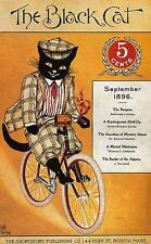 CAT, CHAT, KATZE, BLACK CAT ON BICYCLE, MAGAZINE COVER, 1896, MAGNET