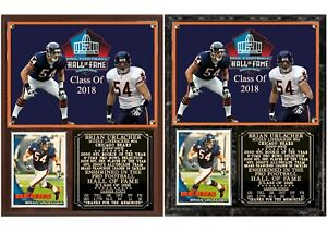Brian Urlacher 2018 Pro Football Hall of Fame Photo Card Plaque