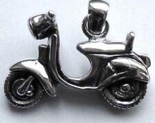 925 ECHT SILBER *** Großer massiver Anhänger Mofa Motorroller Bike 28 mm