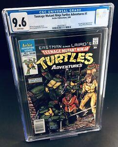 Teenage Mutant Ninja Turtles Adventures #1 CGC 9.6 NEWSSTAND Archie 1988 TMNT