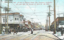 VIntage Postcard-View of Filmore St,San Francisco, CA year after 1906 earthquake
