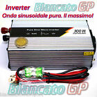 INVERTER AD ONDA SINUSOIDALE PURA 300W PICCO MAX 600W 12V 220V AC PURE SINE WAWE