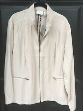 New Chico's $119 Easy Texture Crossover Jacket Sheer Petal Pink 3 = XL 16 18 NWT