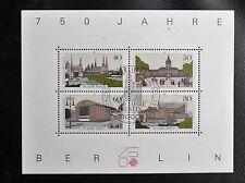 TIMBRES D'ALLEMAGNE : BERLIN 1987 BLOC FEUILLET N°8  Oblitéré  750 ANS DE BERLIN