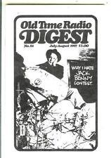 OLD TIME RADIO DIGEST #82, 1997, rare US digest mag Jack Benny, sci-fi