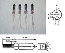 6S6B-V ( 6С6Б-В )  Hi-durable Miniature Audio Triode Tube. Lot of 4 pcs