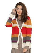 Doctor Who Fourth Doctor Striped Cardigan Sweater Dr Size Medium 4th NWT!