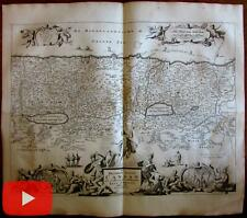 Holy Land Canaan pictorial decorative 1714 Stoopendaal Visscher map