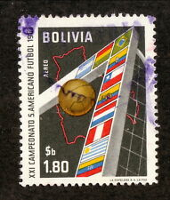 Bolivia--#C248 Used--South American Soccer Championship Air Mail--1963