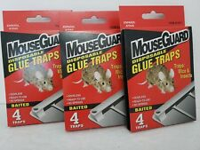 MouseGuard Disposable Glue Traps Mice insects spiders 3 boxes with 4 traps each