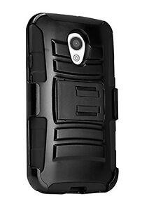 For Motorola Moto G Hybrid Heavy Duty Hard Rugged Shockproof Holster Cover Case