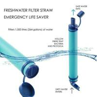 Portable Water Filter Purification Emergency Camping Hike Purifier Gear Straw
