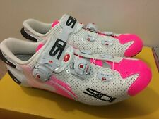 Sidi Women's Wire Push Air Vent Carbon Road Cycling Shoes WHITE/PINK 40.5
