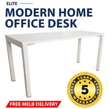 Elite Modern Home Office Desk White Frame White Desk Top