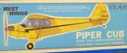 """PIPER CUB, CNC Cut, Free Flight Kit, W/S 35"""" Rubber Power, Untouched, BIG J3"""