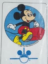 VINTAGEWalt Disney Travel Co. Inc. Mickey Mouse NIB Travel Luggage Bag Tag 1987
