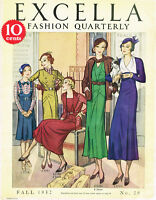 1930s NEW! Excella Fall 1932 Quarterly Pattern Catalog 34 pg Ebook Copy on CD