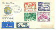 1949 Universal Postal Union St. Lucia To Los Angeles Via New York Registered Fdc