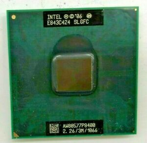 INTEL Core 2 Duo P8400 SLGFC Mobile - 2,26GHz / 3MB /1066 - Sockel 478/479  #924