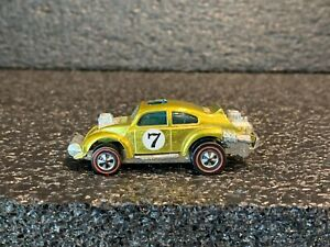 Original 1970 Hot Wheels Redline Evil Weevil (Yellow w/ White Int) Minty