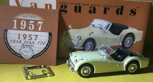 VANGUARDS TRIUMPH TR3A OPEN TOP MODEL IS MINT AND BOXED