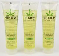 Hempz Rosemary & Mint Herbal Body Wash 9 oz each (3 PACK)