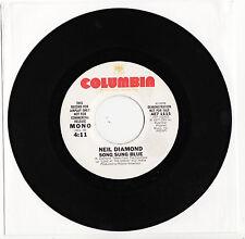NEIL DIAMOND - SONG SUNG BLUE Very rare 1977 US white Label PROMO Single! EX