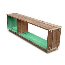 Rustic Wooden Stackable Bookshelf Bookcase Display Shelf Storage Unit in Green