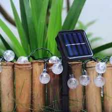 4.8M 20 LED Solar Power Crystal Ball Waterproof Fairy Light Garden Decor Lamp