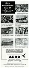 1952 Flying magnetometer Aero service corporation vintage photo print ad adl80