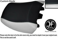 WHITE BLACK VINYL CUSTOM FITS BMW R 1150RT 00-06 R 1100RT 94-01 REAR SEAT COVER