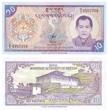 Bhutan 10 ngultrum 2000 UNC banconote P-22