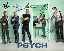 Psych signed James Roday Dule Hill all cast 8X10 photo picture autograph RP 3