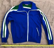 Vintage 1970s White Stag Full Zip Athletic Sweatshirt Blue w/ trim Sz L Large