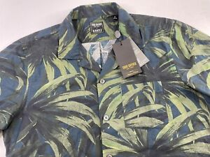 NWT Todd Snyder X Albiate Men's Camp Shirt Olive Palm Print Floral Size Medium
