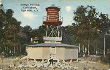 High Point NC~Fowl in a Flit by Man~Carrickmoor~Storage Bldg~Water Tower 1910