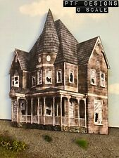 "O Scale Scratch Built ""HAUNTED / ABANDONED HOUSE #1"" 👻 Building FLAT w/LED MTH"