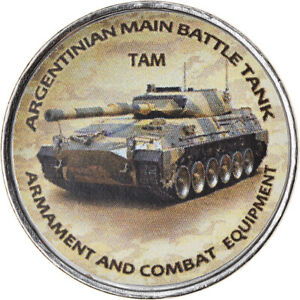 [#788016] Coin, Zimbabwe, Shilling, 2020, Tanks - TAM, MS(63), Nickel plated