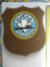 USS Flint AE 32 Ship Crest Plaque