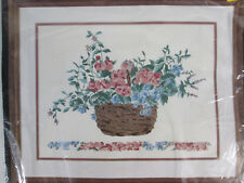 Panier Des Fleurs Basket of Flowers Hand Embroidery Kit Bucilla Stitchery 40312